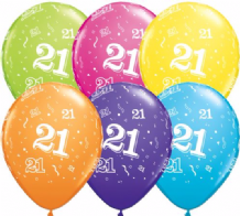 21st Birthday - 11 Inch Balloons 25pcs